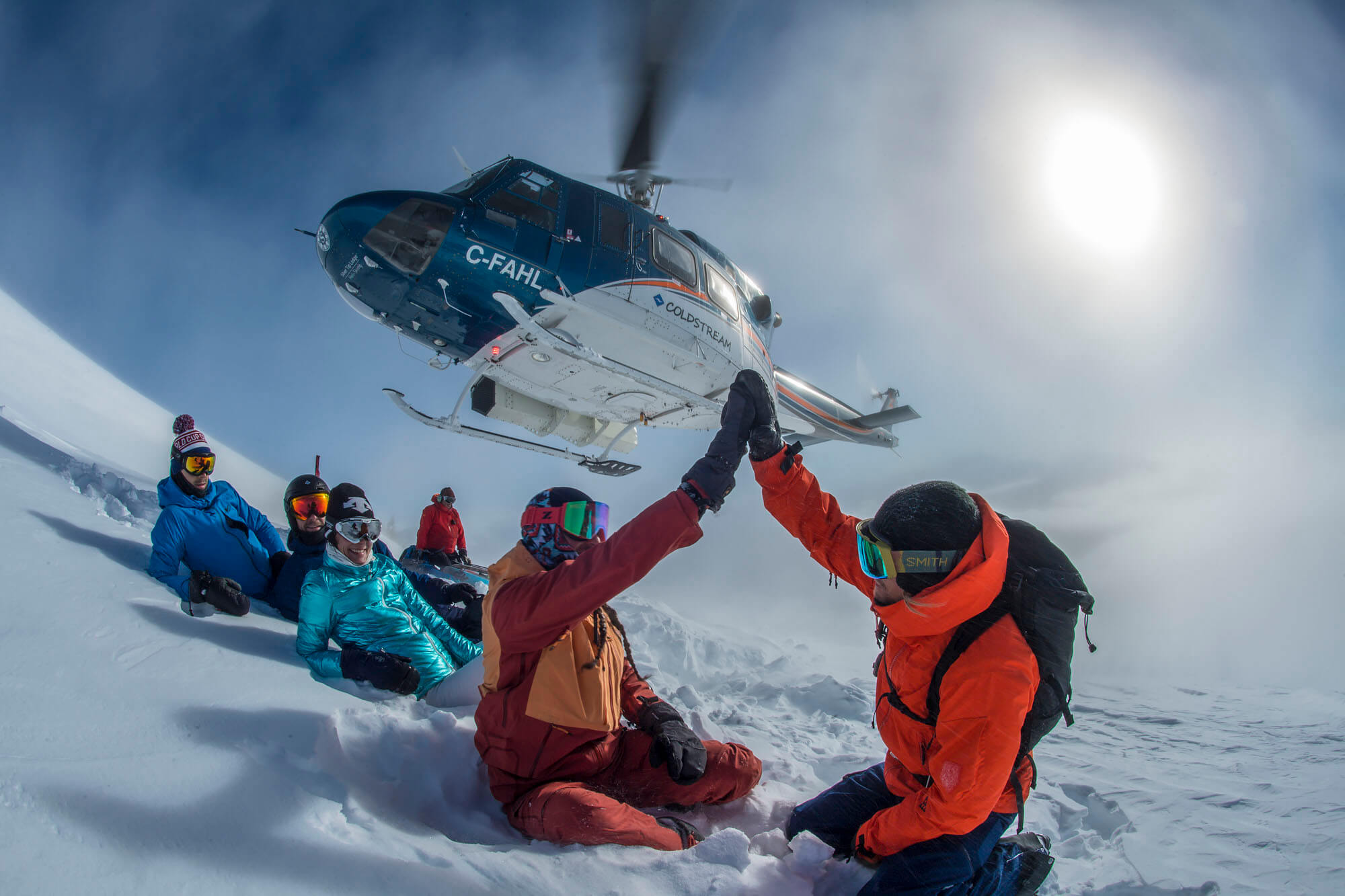 heli skiing group bc
